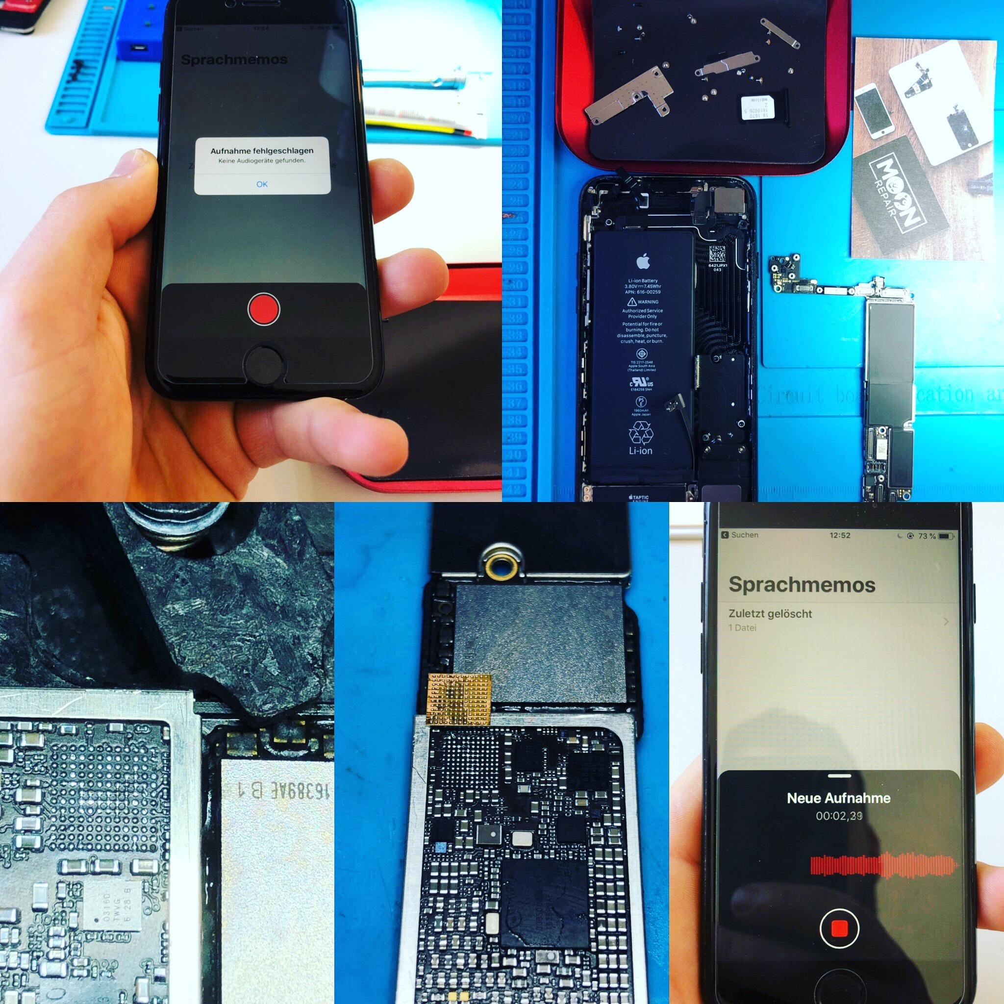 iPhone Aufnahme fehlgeschlagen