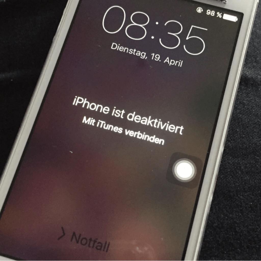 iPhone deaktiviert Datenrettung möglich