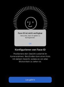 Face ID funktioniert nicht